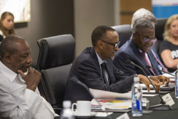 Aliko Dangote-Paul Kagame  Africa'll  become food basket of the world, says Dangote at UN Assembly Dangote Kagame e1505918064560