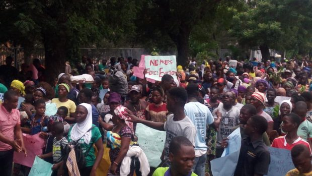 Otodo Gbame  Otodo Gbame evictees occupy Lagos seat of govt, demand resettlement, compensation Protesters 4 e1510781037555