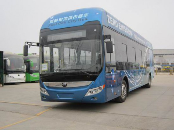 Hydrogen fuel cell bus  Hydrogen-powered bus unveiled in Central China Bus