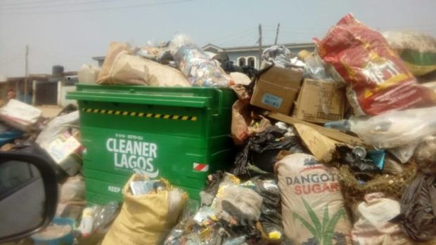 Lagos refuse  Images: Concern as refuse litters Lagos streets IMG 20180115 150045 e1516027218775