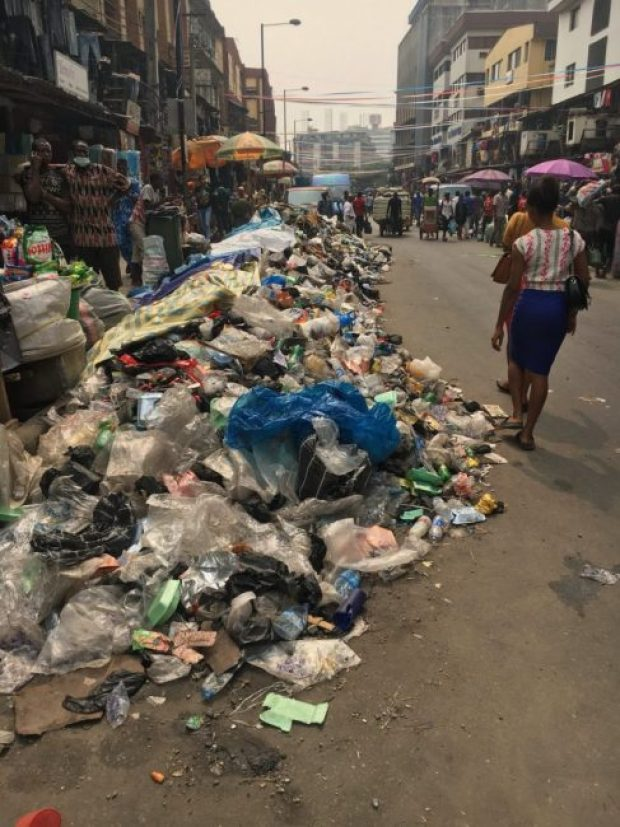 Lagos refuse  Images: Concern as refuse litters Lagos streets IMG 20180115 150151 e1516027592820