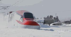 snow storm train