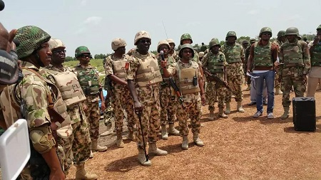 Nigerian military personnel