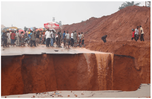 Gully erosion  Erosion: Communities want Buhari to declare state of emergency in Anambra erosion