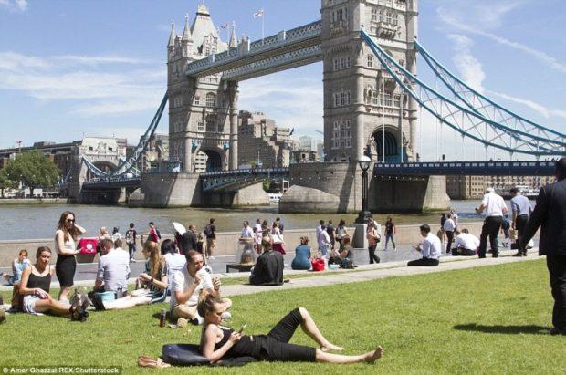 UK high temperatures