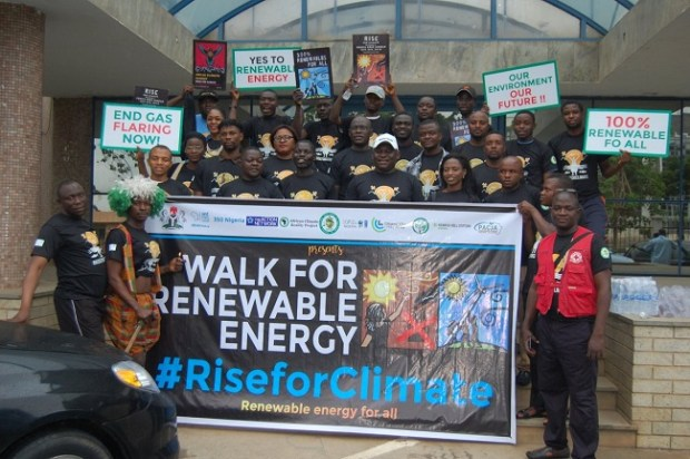 Abuja Rise for Climate Walk  Group seeks more attention to climate change Rise