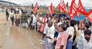 Fishworkers protest