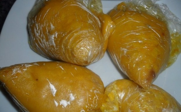 Food in polythene bags