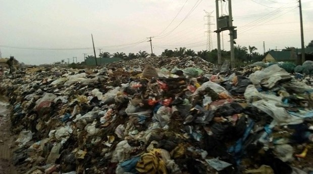 Refuse dumpsite in Aba