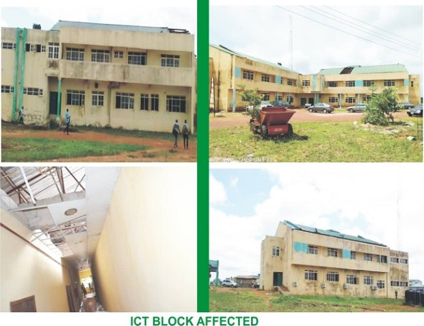 AEFUNAI ICT Centre destroyed by windstorm