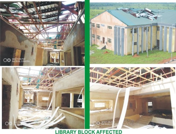 AEFUNAI Library destroyed by windstorm