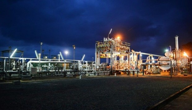 Shell Nigeria Gas  Shell expands domestic gas distribution in Nigeria Shell Nigeria Gas Agbara Ota PRMS Capacity Increase Project at Night