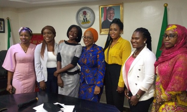 Youths with Sharon Ikeazor  When youths interacted with Environment Minister of State IMG 20190924 212457