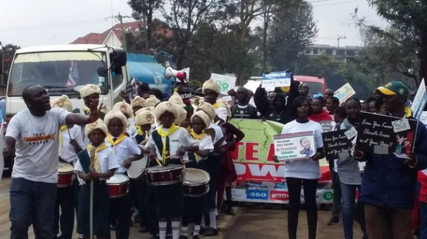 Climate Action Walk  Images: PACJA climate strikes in Nairobi, Abidjan Walk 1