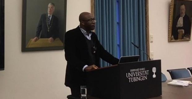 Professor Chukwumerije Okereke  Okereke clamours justice perspective to climate change governance IMG 20200129 WA0006