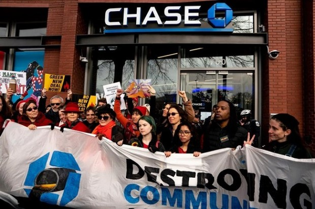 Protesters  JPMorgan Chase's climate policy 'falls woefully short', say activists mail 3