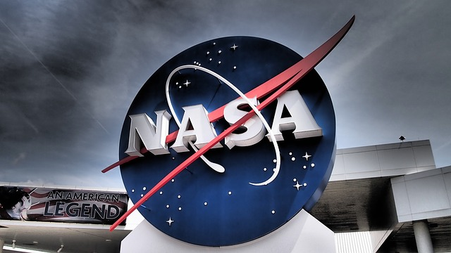 The NASA Logo in Front of the NASA Building