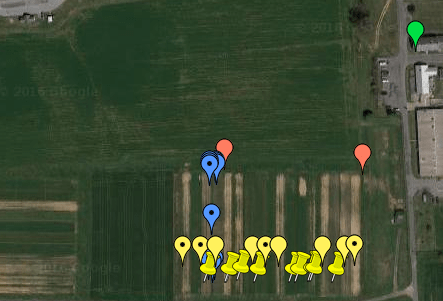 Image of deployment locations in fields of the farming systems