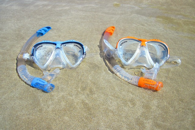 Two snorkels protecting a data logger from relative humidity