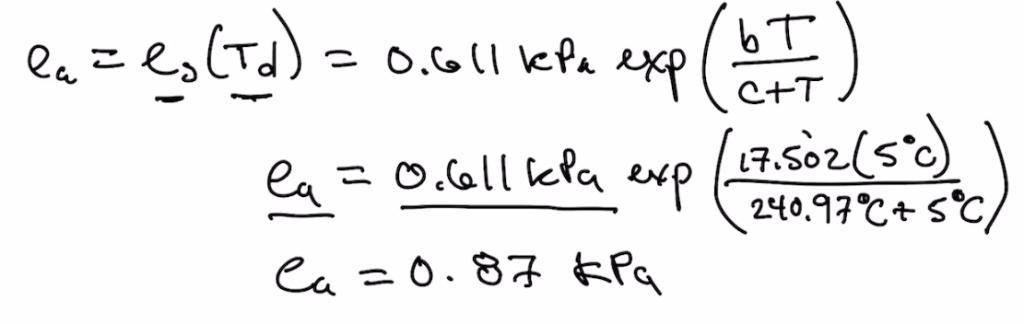 Accumulative Vapor Pressure Calculation