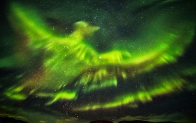 Giant Phoenix captured in stunning aurora borealis Iceland show