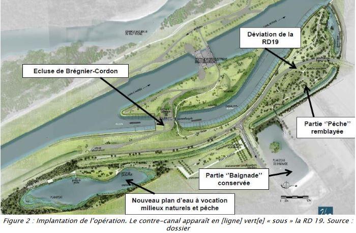 Écluse de Brégnier-Cordon: l'Autorité environnementale recommande un réexamen des choix de l'opération