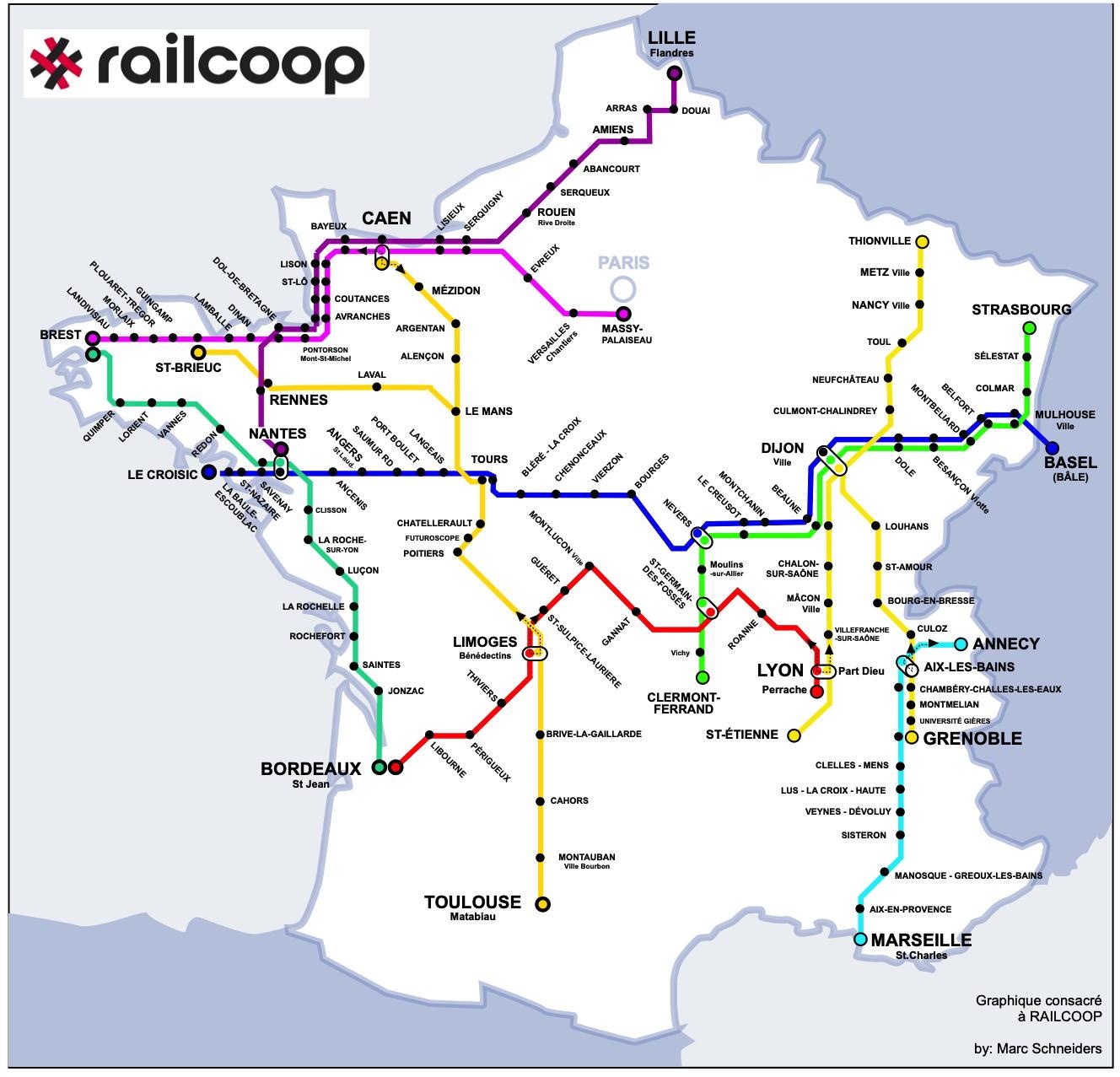 Train : Railcoop affiche un programme ambitieux de liaisons transversales