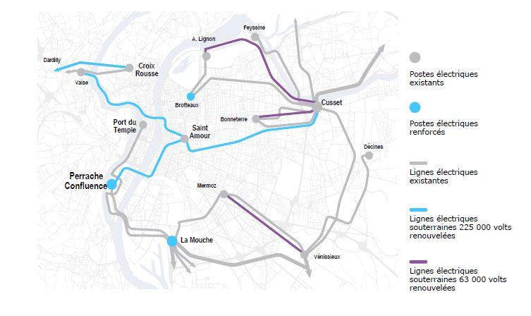 RTE achève la modernisation du réseau d'alimentation électrique de la Métropole de Lyon