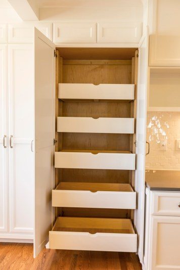 Creative kitchen storage and built-ins