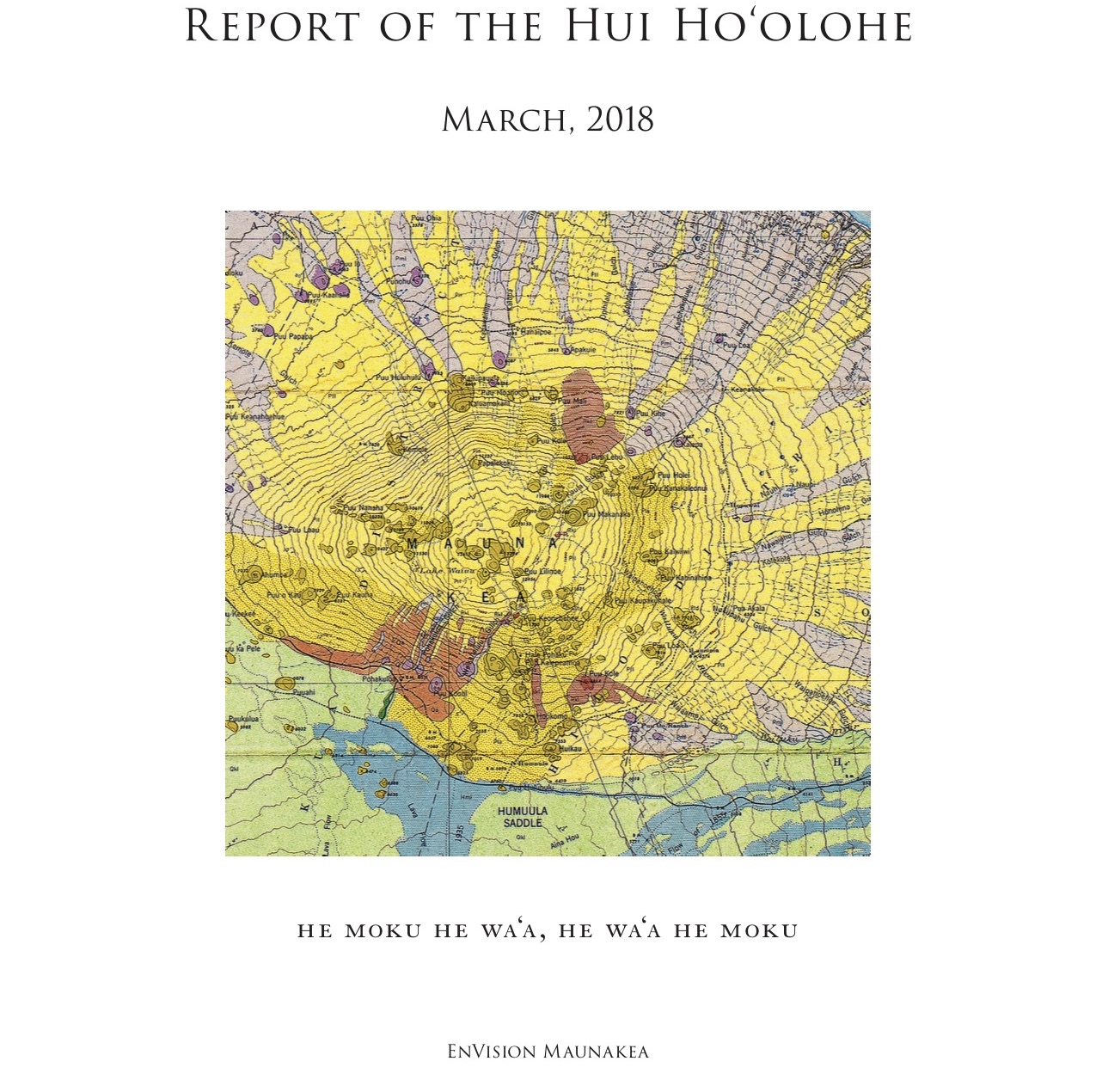 Report of the Hui Hoolohe Cover Graphic