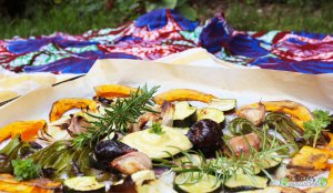 Potimarron-courgettes-romarin-figues-rôtis-four-mayonnaise