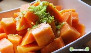 Papaye-citron-zeste de citron