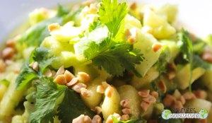 ananas, avokado och gurka sallad paprika Penja
