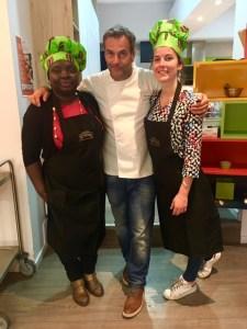 Cécile, Nathalie et le Chef Damien