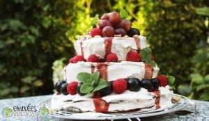 Gâteau de fête Mamie Coco et son sirop de foléré (fleurs d'hibiscus, 双汁)  -  (面筋)