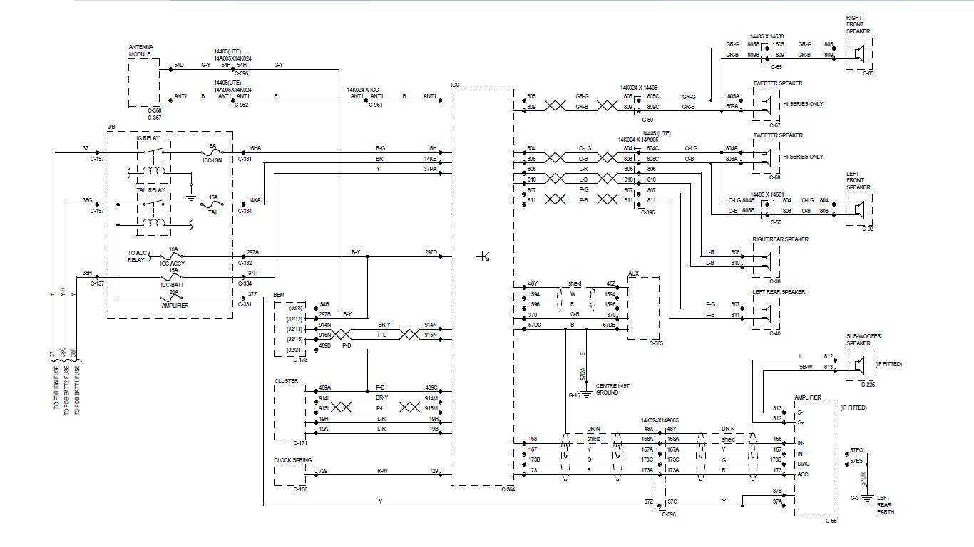 Ford Falcon Ef Stereo Wiring Diagram 36 Images Freelander 1 Ba Icc Wiringresize6652c374