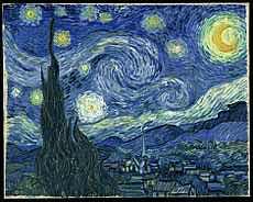 Quadro Noite Estrelada de Van Ghogh