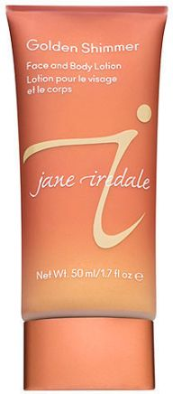 jane iredale golden shimmer face and body lotion highlighter