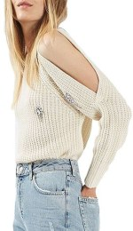 stress-free holidays, enza essentials, cold shoulder, sweater