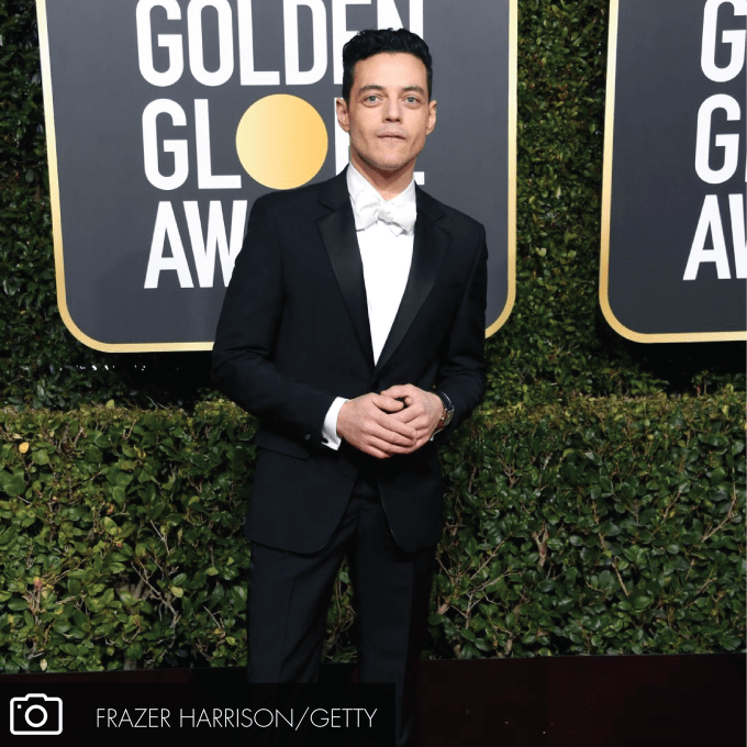 BEAUTY BREAKTHROUGHS AT THE GOLDEN GLOBES: Rami Malek
