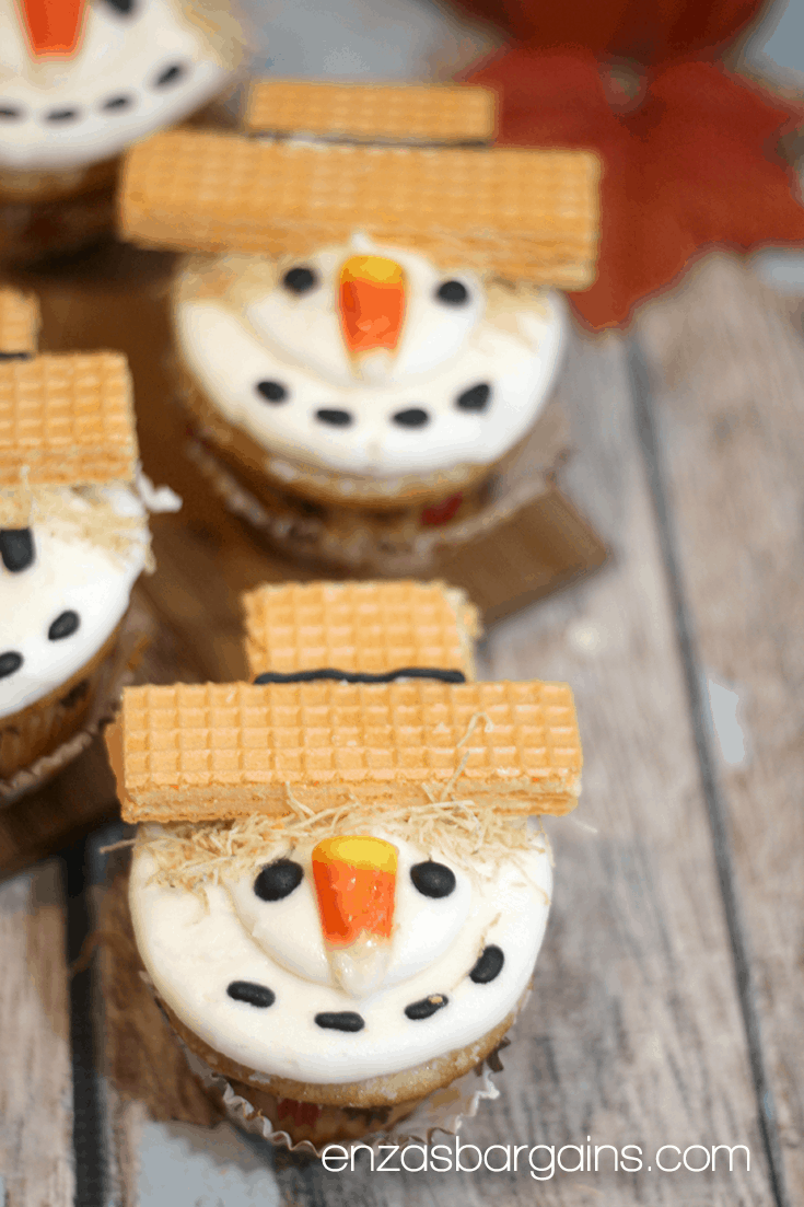 Scarecrow Cupcakes Recipe The Cutest Little Fall Table