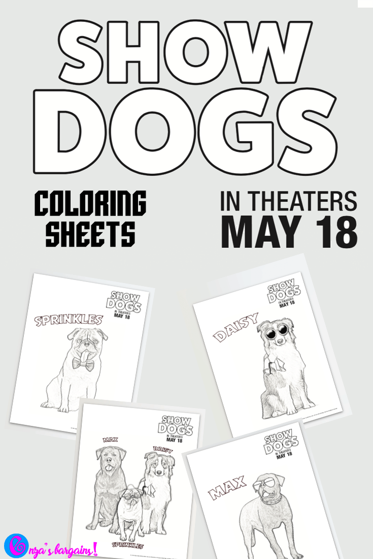 Show dogs movie printable coloring pages enzas bargains, i love you coloring pages print