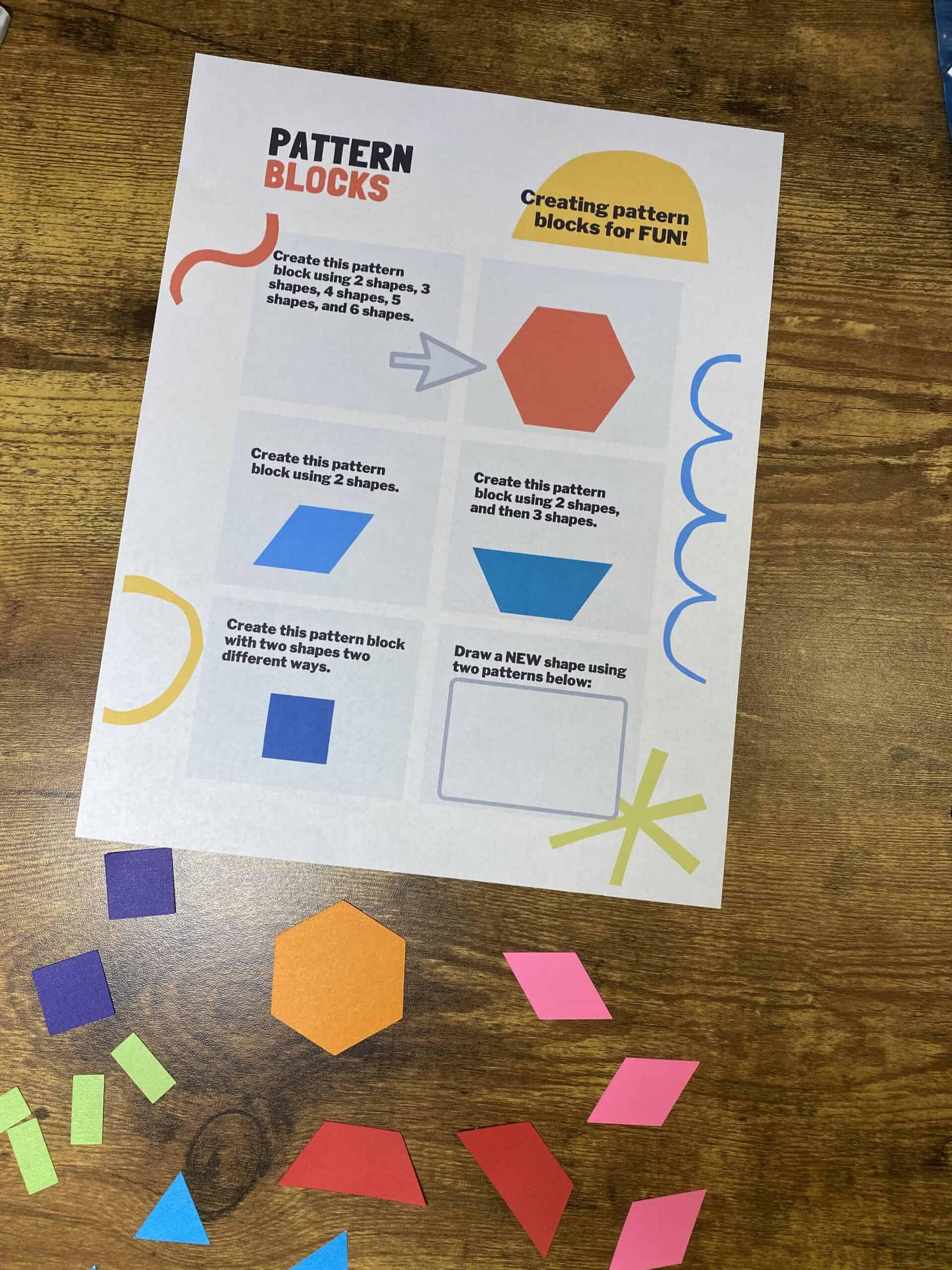 Free Cricut Pattern Blocks
