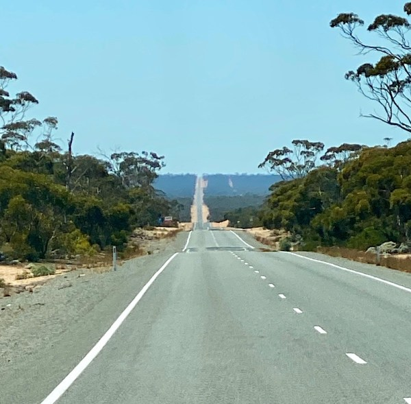 long straight road - Eyre Highway