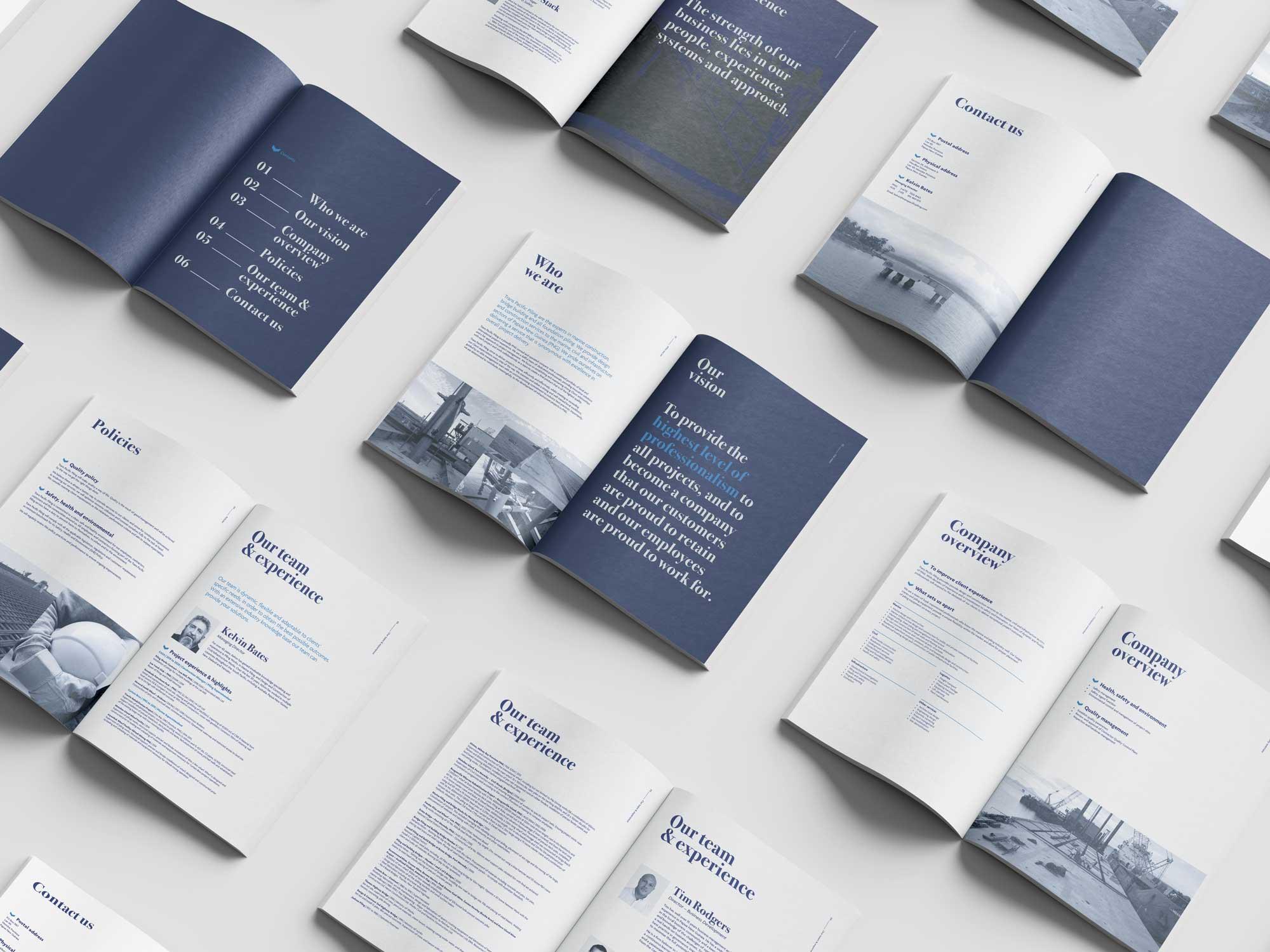 Trans Pacific Piling Branding Company Profile Design