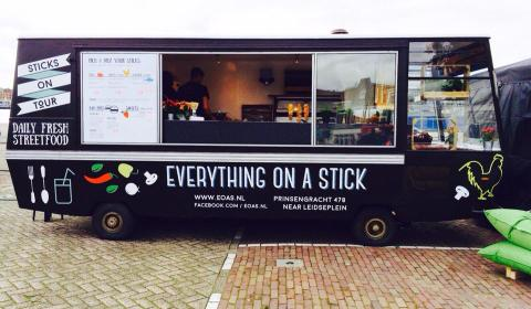 Foodtruck amsterdam everything on a stick