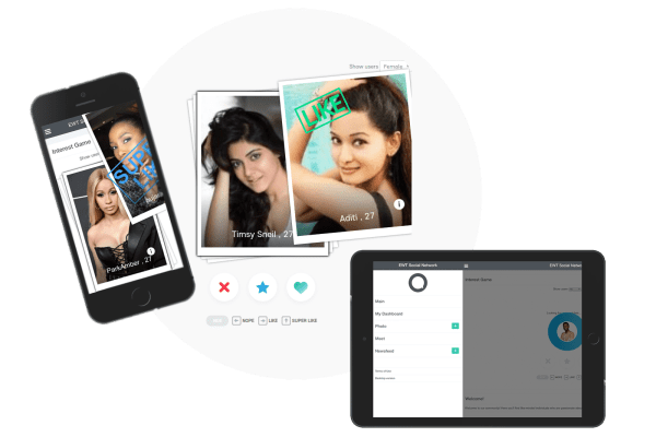 Meet Users – Oxwall Profile Discovery Game mobile & desktop platform cover
