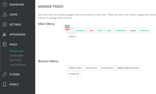 Set Sign-In Page as Landing Page Desktop Menu Setting