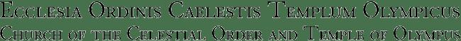 Ecclesia Ordinis Caelestis Templum Olympicus