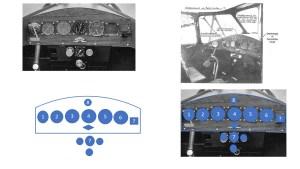 Les instruments de la planche de bord